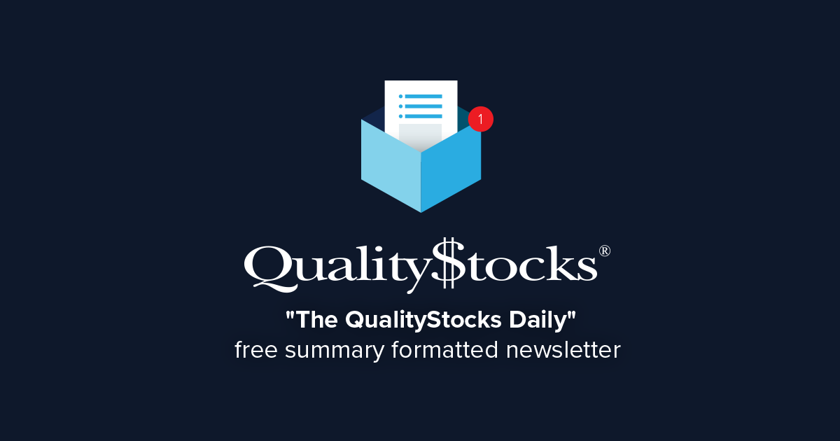 The QualityStocks Daily Newsletter